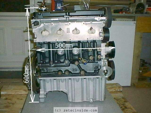Dimensionside on Ford Pinto Engine Weight