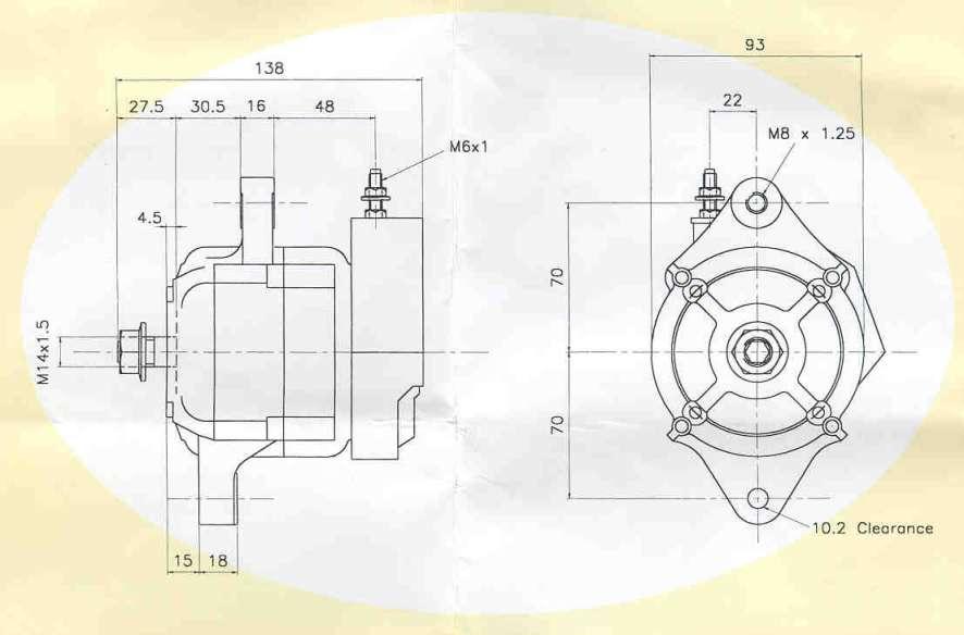electrics page  powermaster alternator dimensions